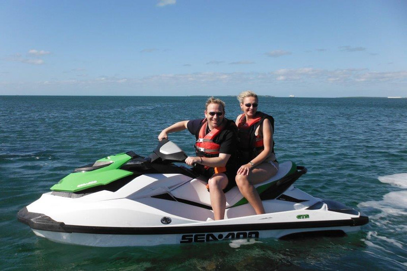 There's a shot of us enjoying our jet-ski/wave runner adventure... it was a great 1hr tour that took us around some of the surrounding islands & we had a great day for it... highly recommended when in CocoCay!! :-)