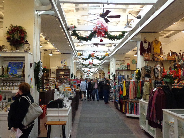 The City Market was quite big, which of course you shoppers will enjoy, but there's lots of other attractions in Charleston too like great restaurants, working plantations, Fort Sumter (where the Civil War started), the USS Yorktown, etc.