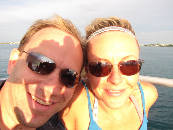 """Someone looks like they're having """"Fun in the Sun"""" on their ride back to their Ship! :-)"""