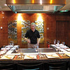 "And there's Shawn practicing his ""Hibachi"" skills at the Teppanyaki grill! :-)"
