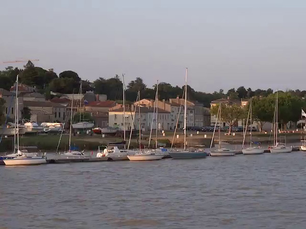 """Here's a """"Live"""" peek at the kind of scenery & sunset you'll have a chance to experience when doing a """"Bordeaux"""" River Cruise of your own!"""