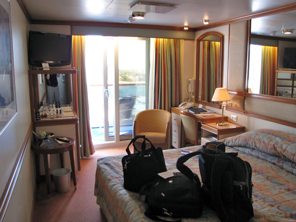"Well, we made it onto Cruise # 18 and our 5th with Princess... we're excited!! Here's a glimpse of what a Balcony room on the ""Caribbean Princess"" looks like."