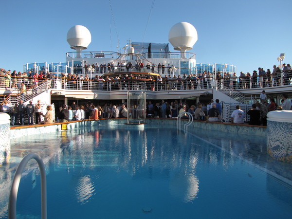 "The ""Sailaway"" party is always an exciting time during your Cruise as everyone's out enjoying the Celebration in anticipation of the week ahead! As you can see we were Blessed with a great day as we left New York!"