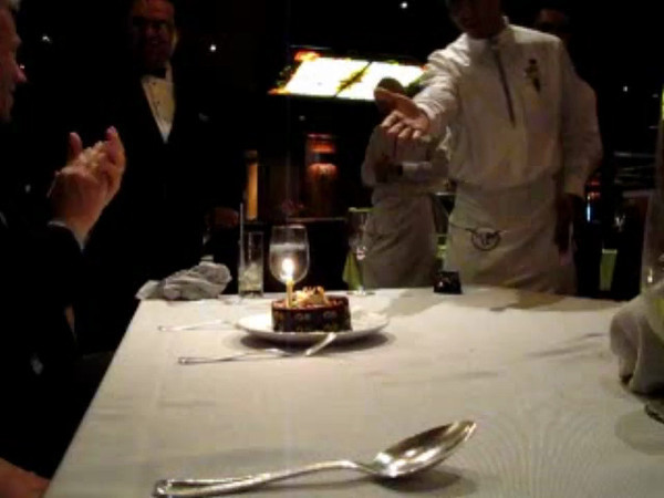 """As we mentioned before they Love helping you Celebrate special occasions onboard Cruise Ships... here we're getting another """"Anniversary"""" serenade... isn't it great to be spoiled. :-)"""