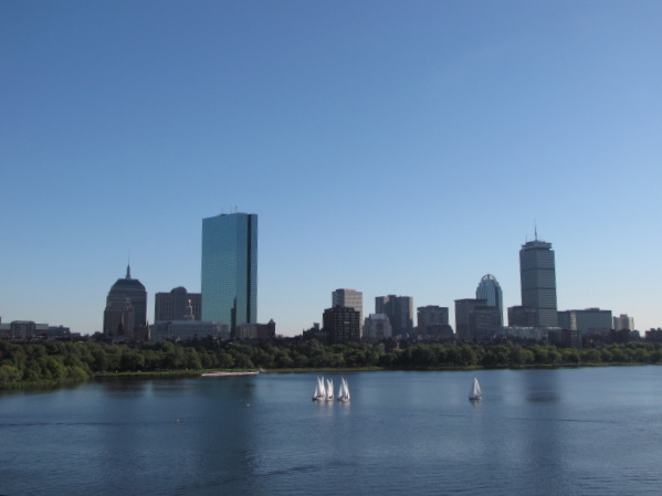 "There's a shot of the Boston skyline and the Beautiful surrounding waters... we saw lots of great sites like this as we explored Boston on a ""Trolley"" tour."