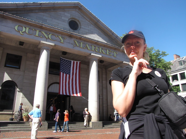 """After a great day in Newport yesterday & another great night on the Ship last night, today we got to visit another World Class port... Boston!! Make sure to eat at """"Quincey Market"""" when there... ummm!! :-)"""