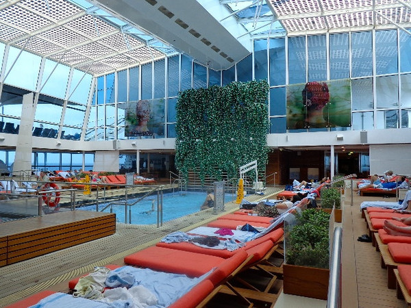 One of our favorite features on Celebrity's 5 newest ships is this Adult's Only solarium... a great place to get away and enjoy some quiet time while focusing on you! :-) And they have their healthy Spa Cafe in this area too so another big plus!