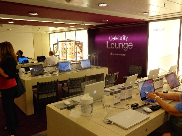 Another great company Celebrity has partnered with is Apple... their onboard Internet Cafe is all powered by Apple and you can even buy some of their products onboard!