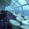 "There's a peek at the ""Sky Observation Lounge"", high above the Sea on Deck 14... a quiet spot to enjoy the views during a day at Sea!"