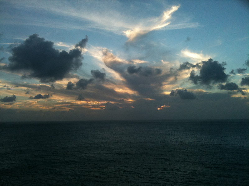 Here's what it looked like as we sailed from St. Maarten... WOW!!