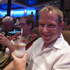 "There's Shawn enjoying a Frosty beverage while hanging with his parents, about to catch this evening's show in the ""Solstice Theatre""... it's great value having Free shows on Cruise Ships... anytime we're in New York or Vegas we usually spend about $600 on shows!"