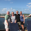 Here we are with Shawn's Mom & Dad as we sail away from Fort Lauderdale... hey, weren't we just sailing away last week from Miami with a similar looking bunch of people? :-)  Unfortunately the whole group couldn't stay for this one but it was still nice with the 4 of us!