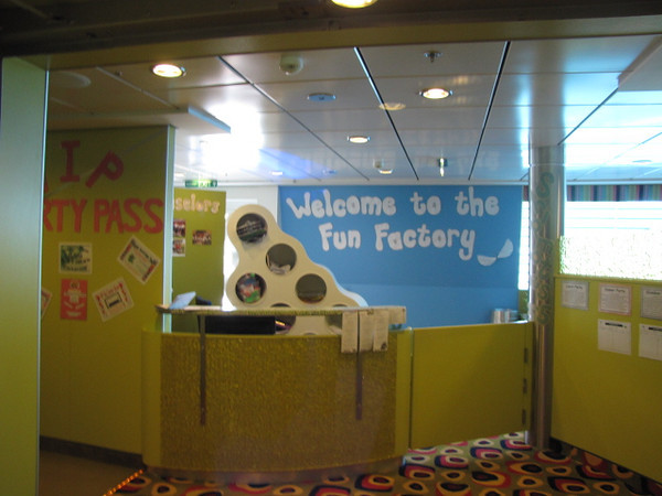 "And for the younger kids the ""Fun Factory""."