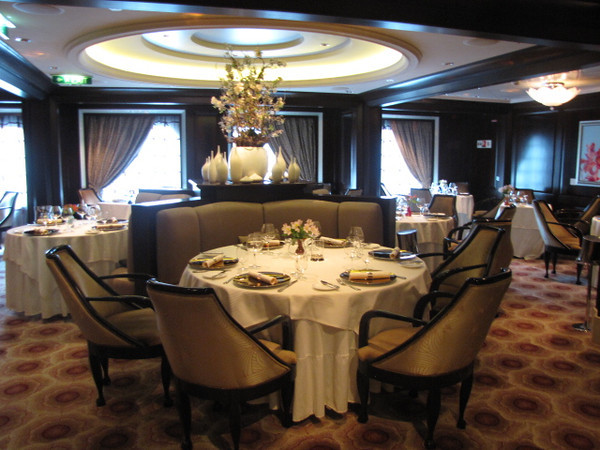 "Like all new Cruise Ships these days, the ""Solstice"" has several specialty Restaurants where there's a nominal fee for an amazing meal... the ""Solstice"" has 4 of these to be exact... here's ""Murano""... $35 per person... get the Dover Sole, it's amazing seeing it ""de-boned"" right in front of you! :-)"