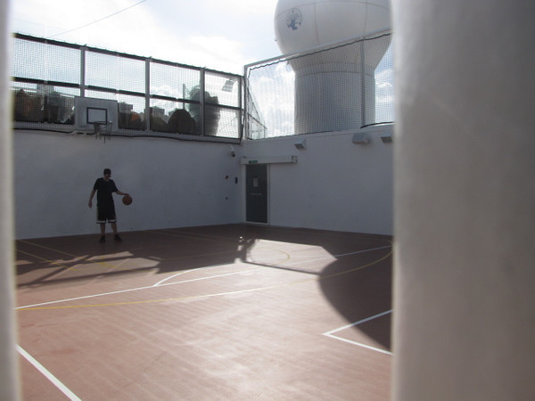 Back on the Ship they even have a Basketball Court to help you stay active.