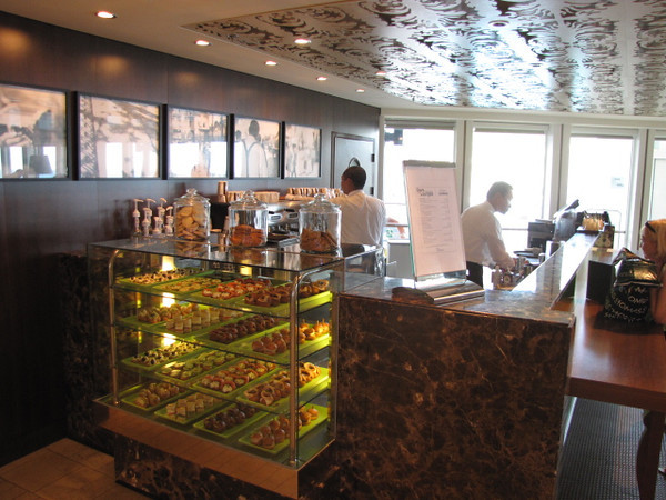 "A very popular place onboard Solstice... ""Cafe Al Bacio""...  this is where you can buy yourself a specialty coffee... but the amazing treats are always Free with your Cruise fare... yum!! :-)"
