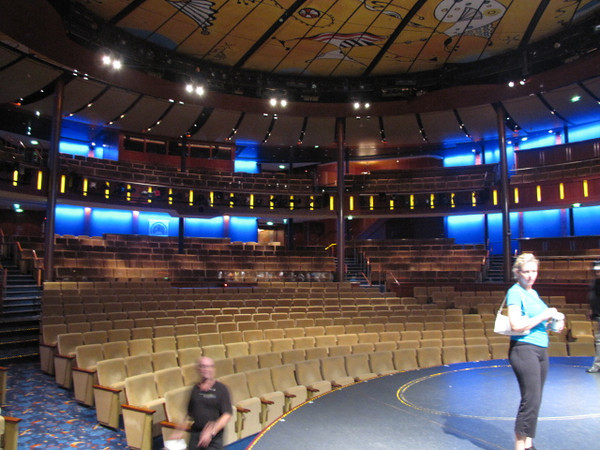 "After having taken several Celebrity Cruises now we've moved up in their ""Past Passenger status"" program to ""Select"" members.  One of the perks we got during our Cruise was a backstage tour... now that was fun!!  Check out the view the performers see from their side of things. :-)"