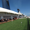 "One of the coolest new & unique features on Solstice is the real grass up in the ""Lawn Club""!  Besides lawn bowling, ring toss, etc. you can do some putting on the grass while at Sea."