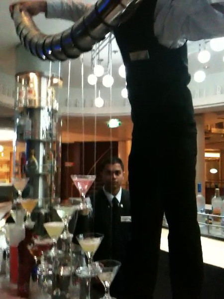"""Have you ever seen 12 Martinis being poured at once before?  If not, check out this footage and you'll be able to say you did... going to see it in person is better though so make sure to get on a """"Solstice Class"""" Ship sometime soon. :-)"""