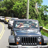 There's Brian & Anna & Linda behind us with the rest of the convoy... FYI, you drive your own Jeep of 2-4 passengers & every Jeep has a hand-held radio to keep in touch with the Guide who shares the insights & sites of the places we're visiting.