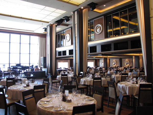 "There's ""Manhattan"" Dining Room & Supper Club.  Complimentary like traditional Restaurants on all Cruise Ships & the Menu changes every night.  The 2 Storey Dancing area is Gorgeous & the ""Legends in Concert"" even make appearances there during the week!"
