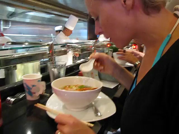 "After showing you all around the Ship it made us hungry so here we are stopping at ""Shanghai's Noodle Bar... ummm!! :-) Watch this Video to see how great the food looked!"