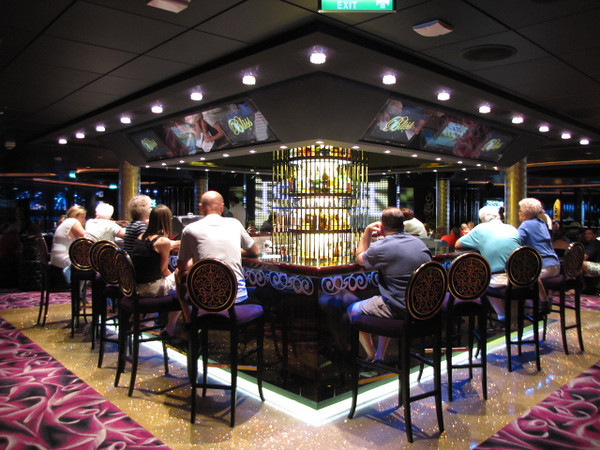 "There's another shot of the Bar at ""Bliss"" Ultra Night Club... much calmer & quieter in the afternoons before the Nighttime festivities start... you can even go Bowling in there... a very, very Fun place!!"