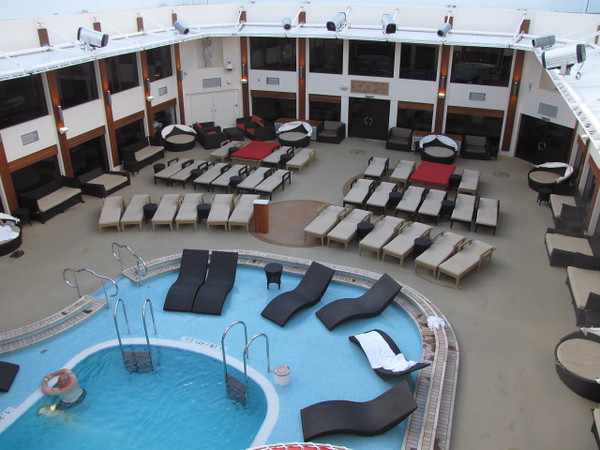"We mentioned the ""Courtyard"" earlier... literally it's a ""Ship within a Ship"" Private complex for Suite guests... Pool, Hot Tubs, gym, Restaurant, Lounge, Pool Grill, Sun Decks, it has it all high atop the ""Epic""!!  If you like exclusivity, look no further!!  (FYI, NCL now calls this ""The Haven"")"