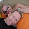 "There's the Anniversary couple enjoying their ""Sea Day"" chilling in a Cabana... Cruising definitely is a great way to Celebrate.  We Cruised for our Honeymoon & our first 3 Anniversaries... we love being ""at Sea"" on our Special Day!! :-)"