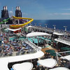 "Here's a Video of the main Pool deck area... between the places to eat there, the slides, the pools, hot tubs, loungers, etc. it's an active place when the ""Epic"" is sailing at Sea!"
