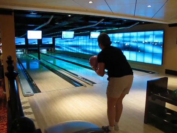 "Check out this footage of real life Bowling at Sea... only on Norwegian ""Epic"", ""Pearl"" & ""Gem""...  talk about innovation at Sea!!"
