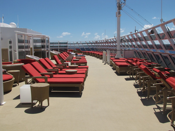 "And there's the Private sun deck area at the Prime location, top/front of the Ship... it truly is quite the Private complex on Norwegian Epic for Suite guests... if you're ever going to splurge for a Suite at Sea, ""Epic"" is a great Ship to do it on!! :-)"
