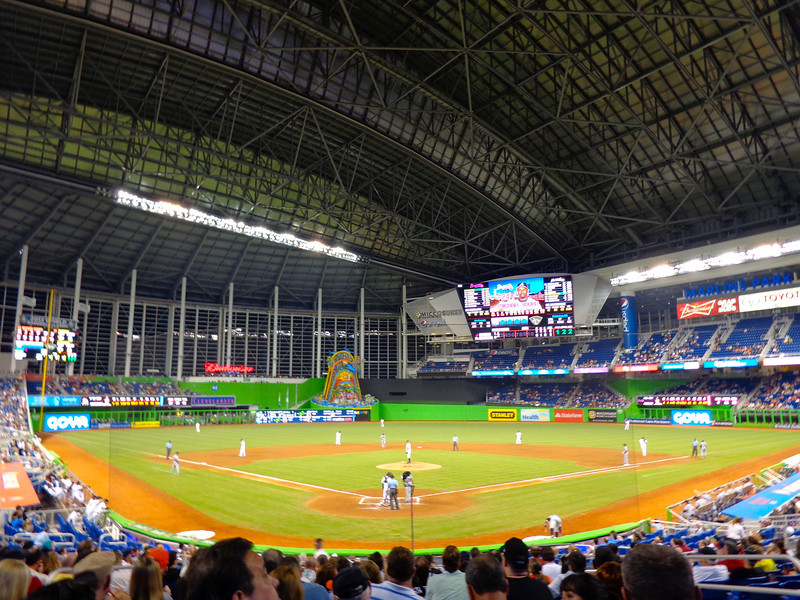 "As Miami is only 30mins from Lauderdale we figured why not take in a ""Marlins"" game... that was fun!! :-)"