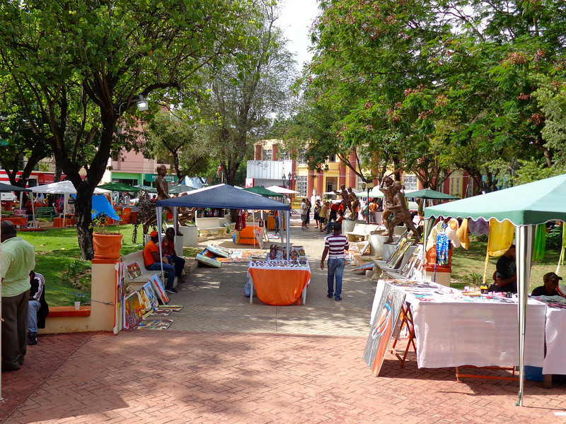 Santa Domingo is the nearest major city from La Romana, about 1.5 hours away, and many people enjoy a tour to there but for those of you staying local head to the city's market where there's tons of vendors offering their local goods and where you can do a little bartering. :-)