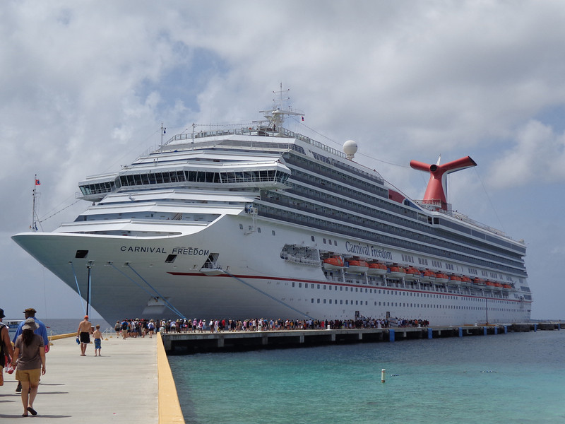 "There's the Carnival Freedom which was our ""home"" for our 8 night Caribbean Cruise."