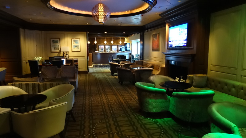 "Besides Suite guests having their own restaurant we also had access to a Private Lounge onboard, ""Michael's Club"".<br /> <br /> It was such a nice place to get-away for a drink, to chat with fellow guests (we met some great people in there!), to use Wifi, to meet with our Concierge, Eric, to arrange dinner reservations, etc.<br /> <br /> Quiet & Exclusive... just like the Luminae Restaurant!"