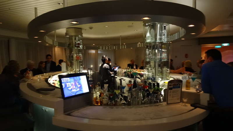 """Now that we've covered all the food, where's the best place to have a drink?<br /> <br /> Why at the """"Martini Bar"""" of course! :-)<br /> <br /> FYI, many guests in Oceanview & Balcony rooms get a free """"Classic"""" beverage package due to a promo that Celebrity runs often... unfortunately though it's pretty limited and covers drinks only up to $8 so as Martinis are more then that it doesn't help you much here.<br /> <br /> As mentioned earlier the Suite guests get upgraded to the """"Premium"""" beverage package which covers way more drinks, including Martinis here. We enjoyed a lot of nice drinks throughout the week and paid $0 but again heard some guests in regular rooms not being thrilled with their choices with the Classic beverage package."""