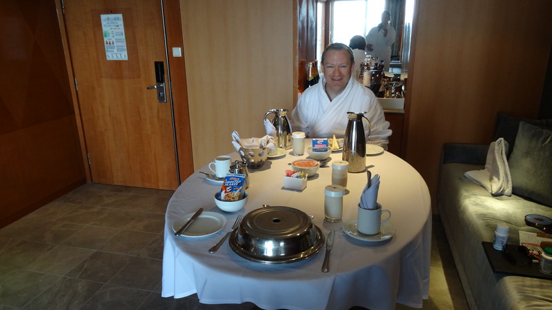 And of course, Benjamin also served us a couple of really nice room service meals throughout the week for those lazy mornings when we didn't want to veer too far from our spacious Suite & Private balcony.