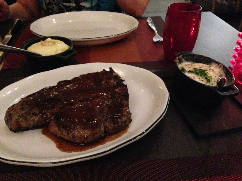 Very gluttonous but yes, we ordered the 26oz Porterhouse! :-)<br /> <br /> Between that, the great appies, pasta & desserts we had quite the meal that evening! :-)