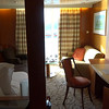 "Here's a video of the smallest Suite onboard, the ""Sky Suite""... if none of the others work budget-wise this will still do just fine as you'll still receive Butler Service, Free premium beverage packages, Free internet, Free gratuities, $300 of onboard credit, access to the ""Luminae"" private restaurant & access to the private lounge ""Michael's Club"".<br /> <br /> The main thing is get yourself into any Suite if in budget as the experience onboard is truly way better... this was our 29th big ship Cruise and for sure the best we've ever experienced as we didn't have that ""nickeled & dimed"" feeling & the exclusivity of the private areas & Butler service was awesome... yet, we still got to enjoy big ship entertainment & choices which simply isn't there on the smaller ships."