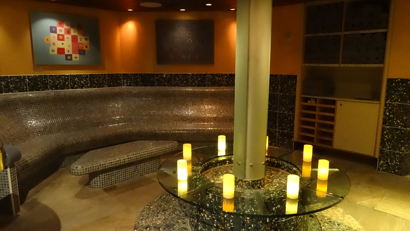 "Of course onboard there's a full service spa offering lots of treatments from massage to facials to acupuncture... or you can simply buy a day pass to visit the ""Persian Garden"" above with it's heated benches/sauna/steam room, etc. and it's relaxing atmosphere."