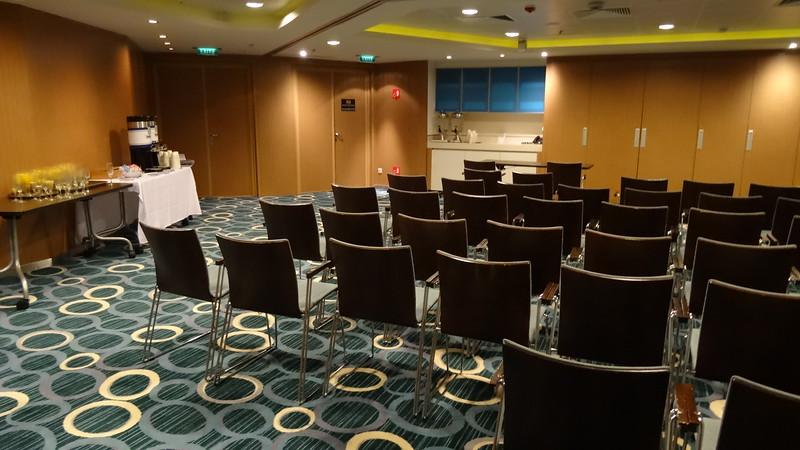 One last note for our several clients who've hosted business meetings & incentive trips for their top staff... there's a couple of conference rooms onboard like this  so plenty of space to get work done in between all the fun your group has onboard! :-)
