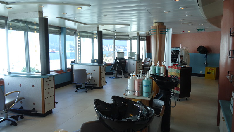 There's even a salon onboard to get your hair done or maybe a manicure or pedicure is more your thing.