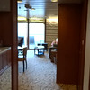 "So, the biggest Suite onboard is the Penthouse & then the Royal and again they come with the most perks.<br /> <br /> The next biggest Suite after those is the ""Celebrity Suite"", here's a video of it.<br /> <br /> As you'll see, a Beautiful Suite as well with lots of space & a nice Veranda & by staying in here you'll still receive Butler Service, Free premium beverage packages, Free internet, Free gratuities, $300 of onboard credit, access to the ""Luminae"" private restaurant & access to the private lounge ""Michael's Club""."