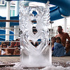 Check out that cool ice sculpture that the talented crew carved for us on deck... these guys got skills! :-)