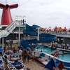 Back on the ship on our way back to LA there were lots of people enjoying the pool and the beautiful weather we enjoyed on our journey.