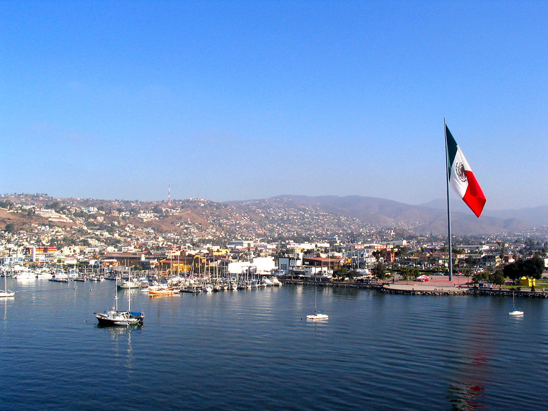 By the looks of that flag, it seems like we've made it to our destination... hello Ensenada, Mexico! :-)