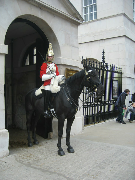 "There's a peek at the popular ""Horse Guards"" found on ""Whitehall"" Road in London, just around the corner from ""10 Downing Street"" where the Prime Minister hangs out."