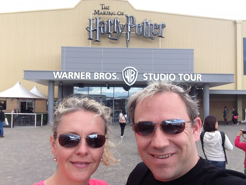 "Well, as 2 big ""Harry Potter"" fans we couldn't help but end our time in London by checking out the Making of Harry... talk about a fun afternoon! :-)"