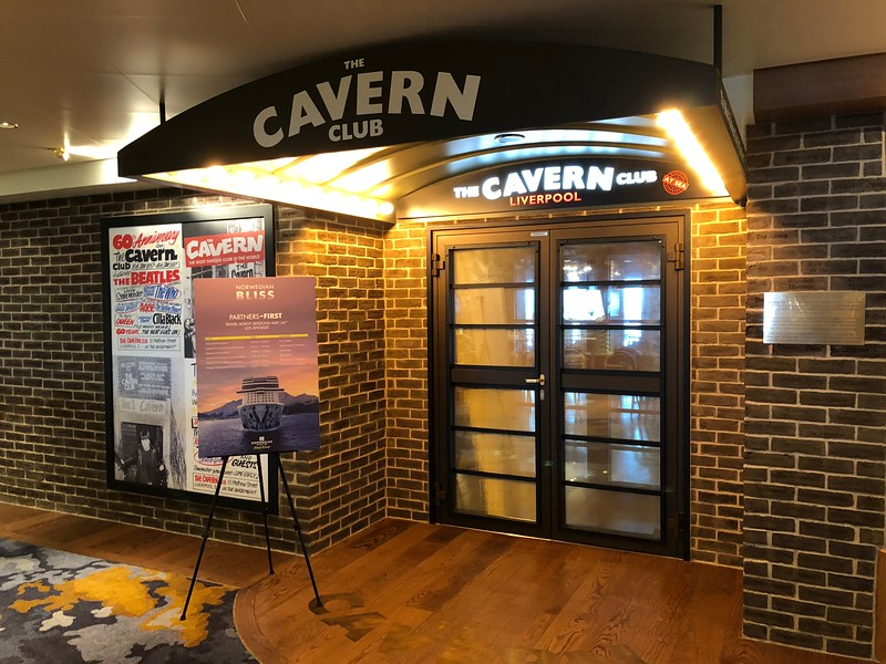 """Just like there's lots of places to eat onboard there's just as many to have a drink/be entertained.<br /> <br /> Bliss' newest venue is the """"Cavern Club"""" which features a """"Beatles"""" impressionist band... why, that place was popular & highly recommended if you like their tunes!"""